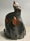 Goldsmith Abstract Feline Ceramic Vessel