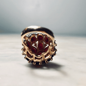 14k Garnet Cocktail Ring