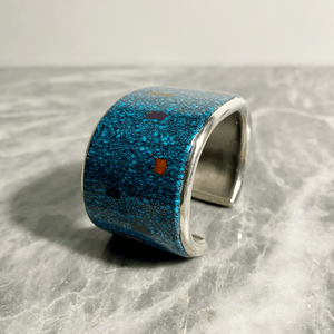 Mark Yazzie Turquoise Coral Lapis Cuff