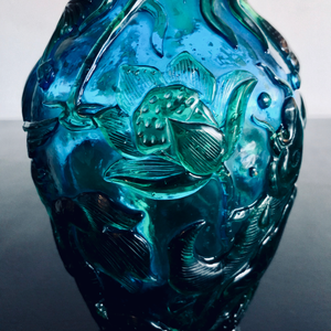 Peking Glass Dragon Vase