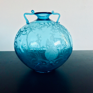 Fine Etched Glass Vessel