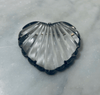 1940's Potbelly Glass Heart Pin in Sterling