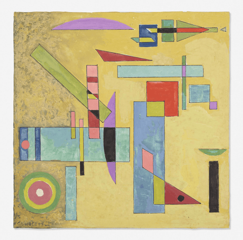 Rolph Scarlett Untitled Geometric Abstract