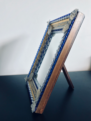 Murano Cobalt Table Mirror