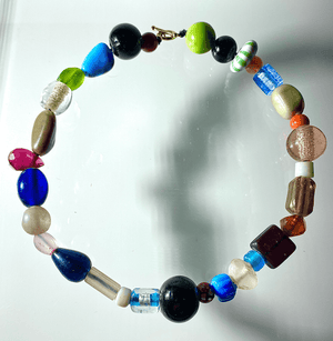 Art Glass Beaded Choker