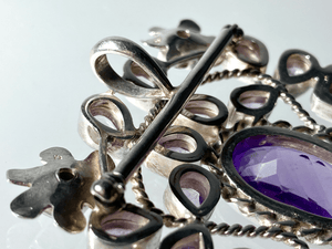 Amethyst and Garnet Brooch / Pendant