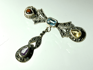 Jeweled Bow Brooch