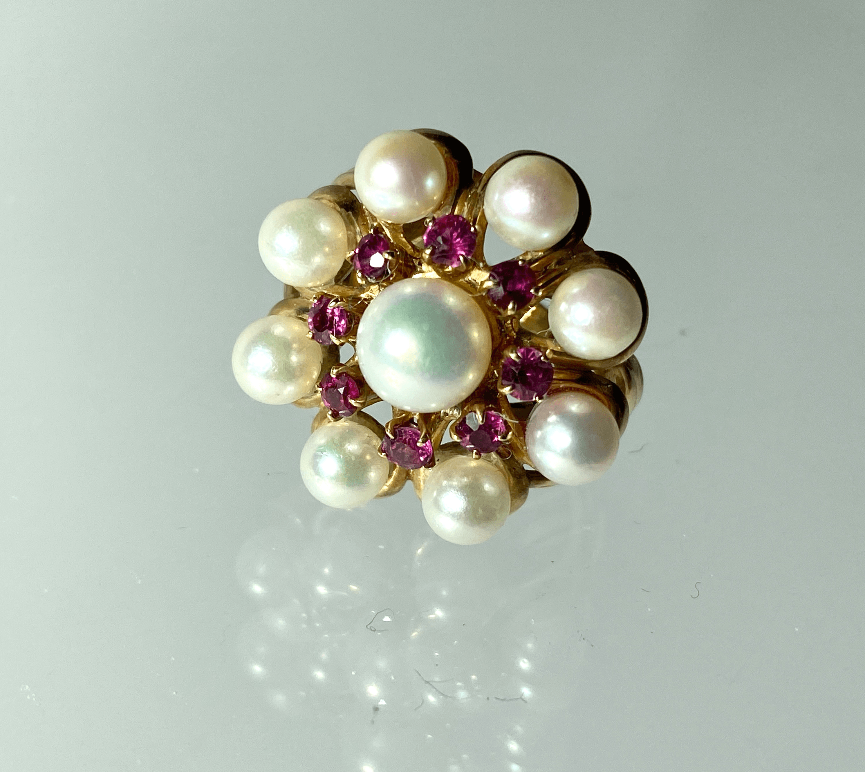 Petit Pearl and Ruby Ring