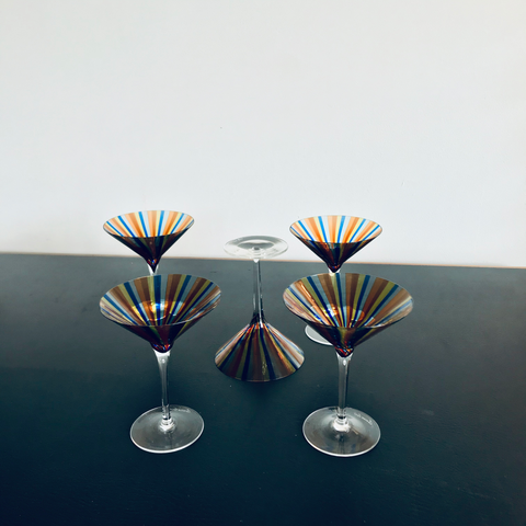 Murano Cocktail Glasses {5}