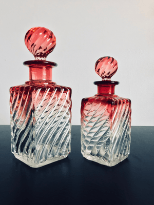 Rubina Glass Decanters c. 1880 {2}