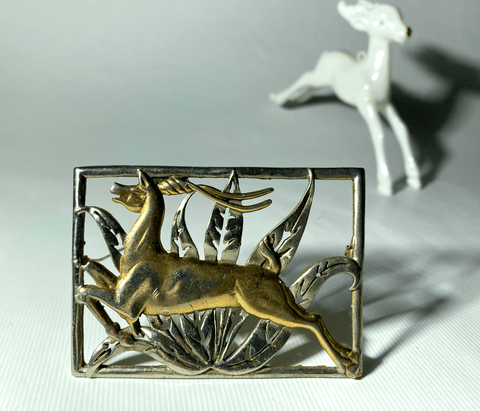 Chanel Leaping Gazelle Art Deco Brooch