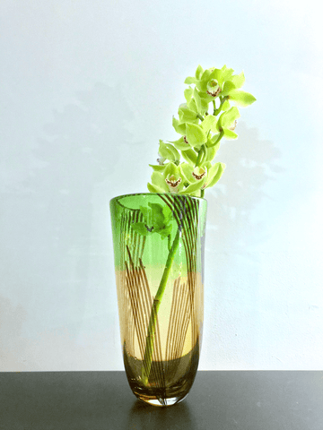 Tri-color Murano Glass Vase