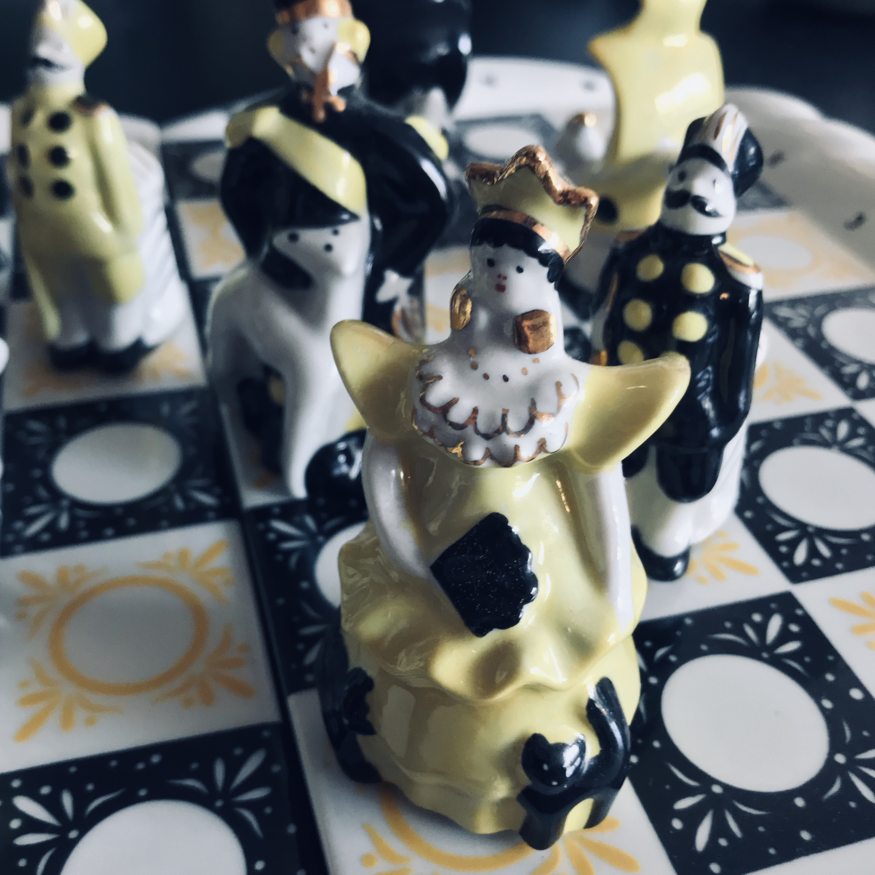 Russian Porcelain Chess Set ca. 1950