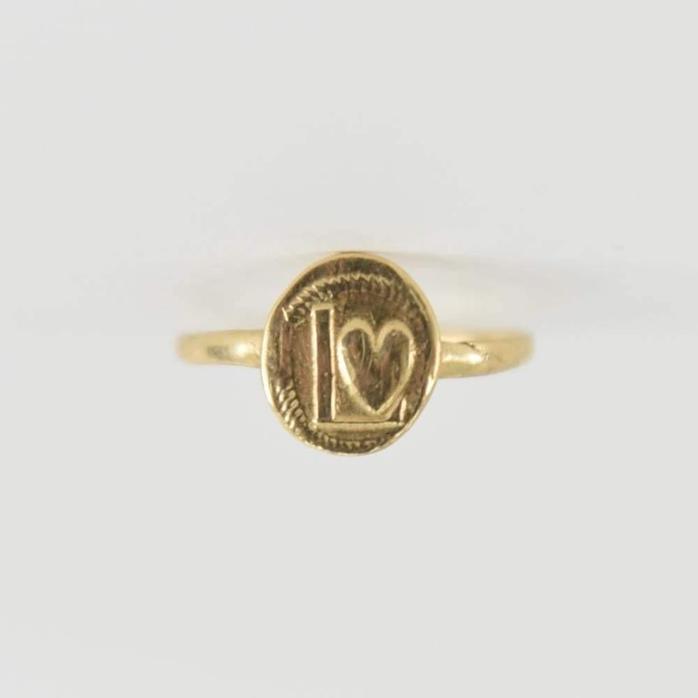 14K Gold LOVE Ring