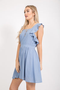 Chambray Pinafore Dress