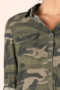 Casual Camo Button-Up