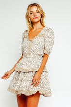 Load image into Gallery viewer, Beige Baby's Breath Ruffled Dress