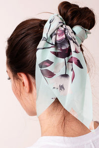 Mint Floral Hair Scarf