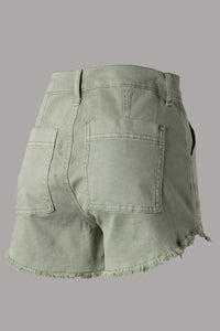Desert Sage Denim Shorts