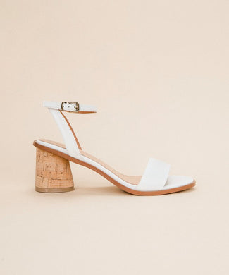 Summer Fling White Cork Sandals