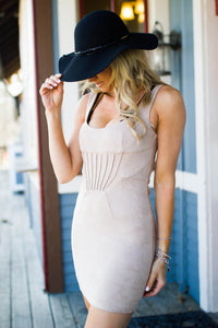 Sand Dollar Faux Suede Dress