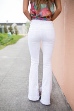 Load image into Gallery viewer, White Skinny Flare Jean