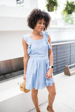 Load image into Gallery viewer, Chambray Pinafore Dress