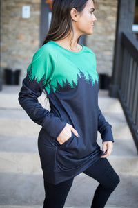 Evergreen Silhouette Tunic