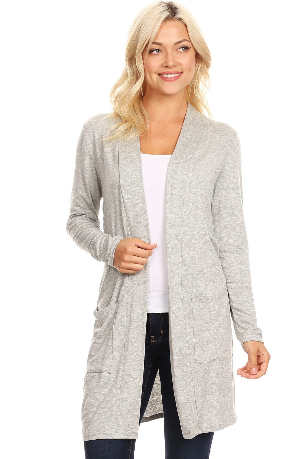 By The Bonfire Heather Gray Cardigan