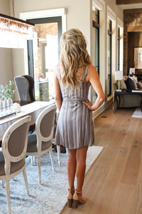 Sandstone Stripe Mini Dress