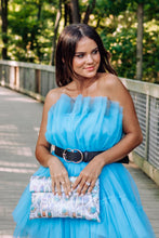 Load image into Gallery viewer, Aruba Blue Tulle Mini Dress