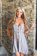 Load image into Gallery viewer, Sandstone Stripe Mini Dress