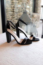 Load image into Gallery viewer, Marissa Heeled Sandals in Black