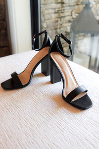Marissa Heeled Sandals in Black