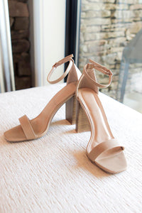 Marissa Heeled Sandals in Taupe