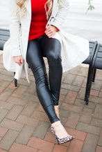 Load image into Gallery viewer, High Waist Faux Leather Legging
