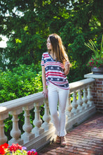Load image into Gallery viewer, White Ruffle Hem Skinny Pants