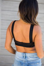 Load image into Gallery viewer, Black Crisscross Sports Bra