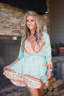 Mint To Tell You Boho Dress