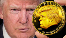 Load image into Gallery viewer, Talking Trump Bobble Head & Trump Gold Coin Bundle