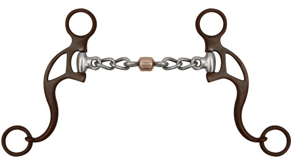 "5"" Showman ® Brown Steel Chain Mouth Bit with Copper Roller"