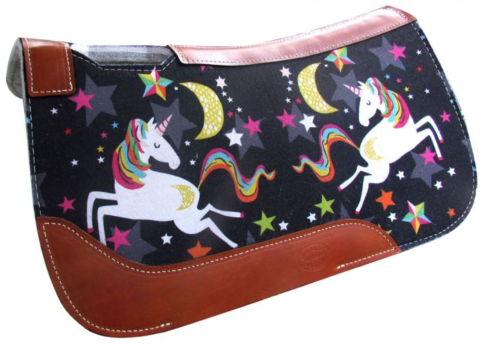 "PONY SIZE 24"" x 24"" Unicorn felt saddle pad"