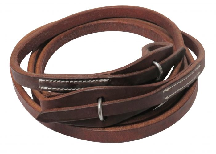 8ft Oiled harness leather quick change roping reins