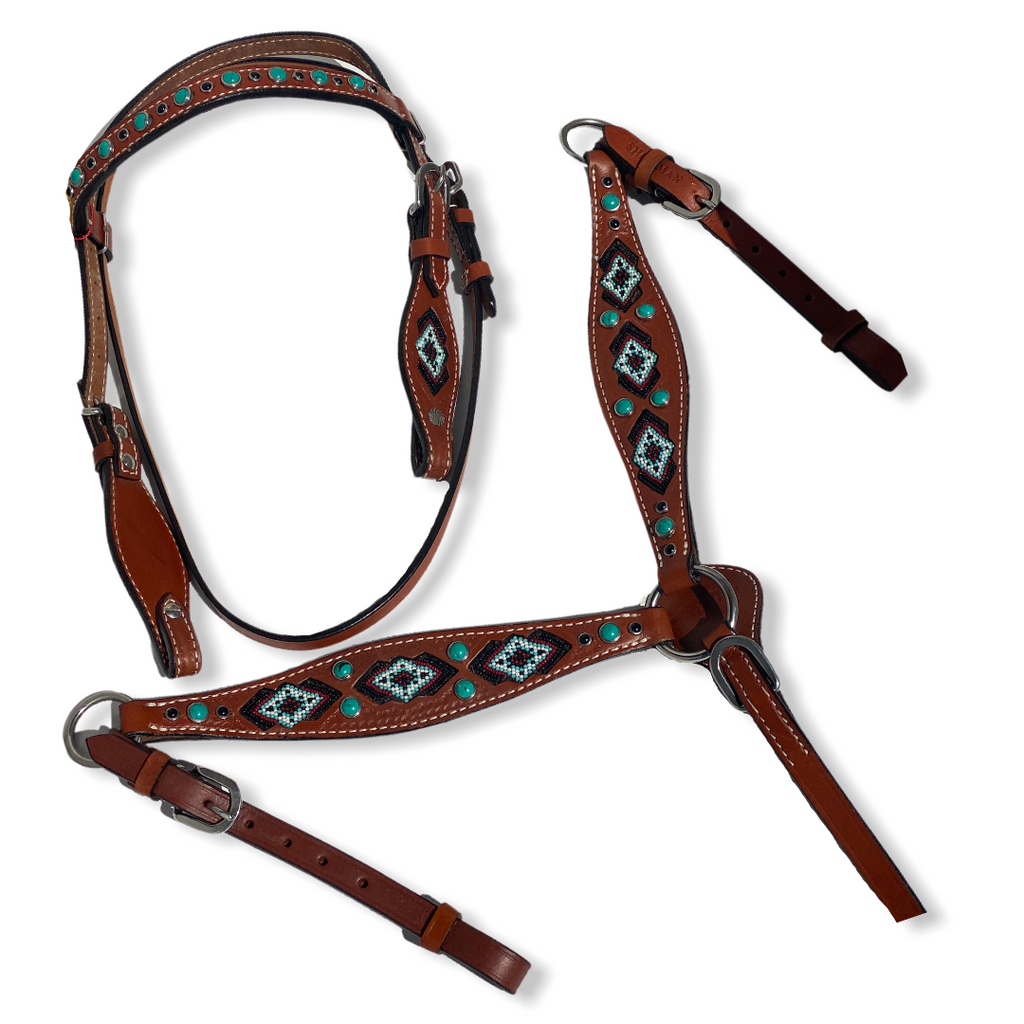 Mini headstall and breast collar & reins set