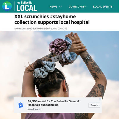 THE BELLEVILLE LOCAL: XXL SCRUNCHIE SUPPORTS LOCAL HOSPITAL #STAYHOME