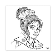 XXL Scrunchie Top Knot Sticker - XXL Scrunchies
