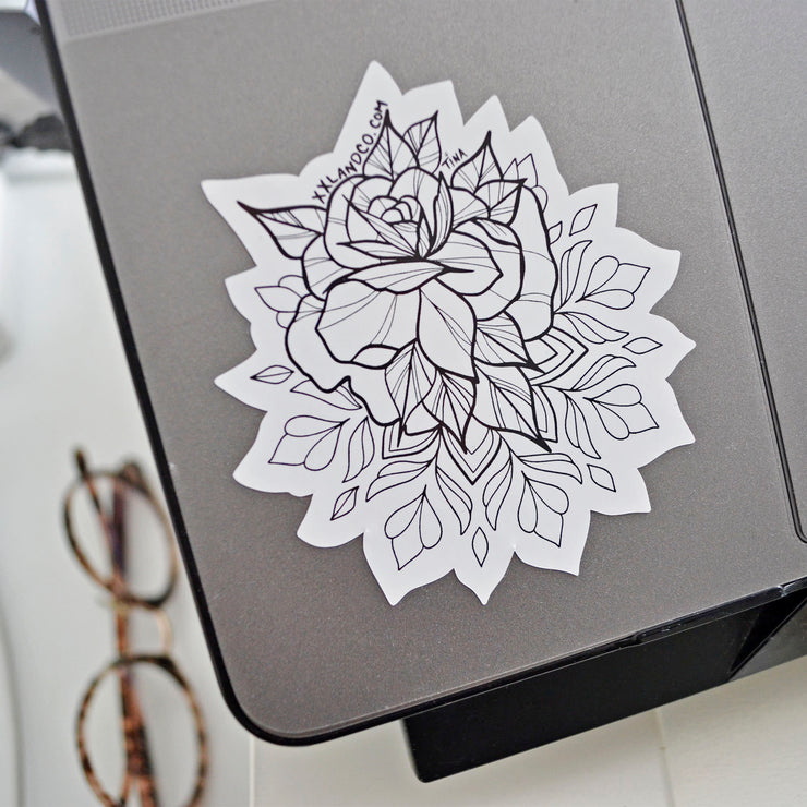 XXL&CO Rose Mandala Sticker - XXL SCRUNCHIE & CO / black