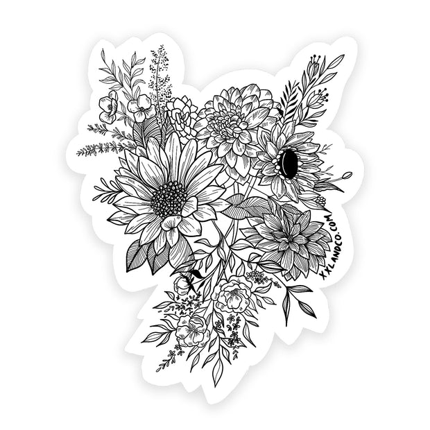 XXL&CO Bouquet Sticker - XXL Scrunchies