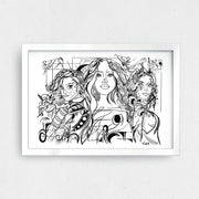 "GIRL GANG Art Print 11 x 8.5"" - XXL Scrunchies"