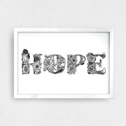 "HOPE Art Print 11 x 8.5"" - XXL Scrunchies"